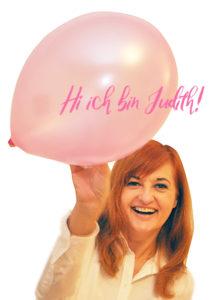 Judith mit Luftballon